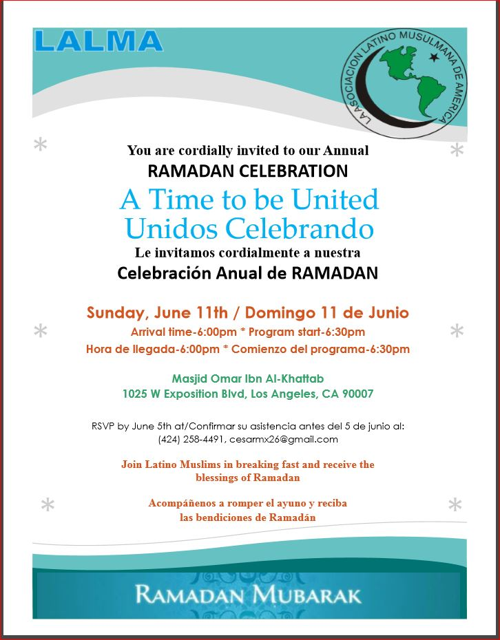 Ramadan Iftar - June 11th. 2017 Celebration